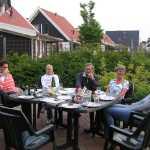 Barbeque in de tuin van ons vakantiehuisje