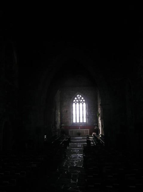 De abbey van binnen