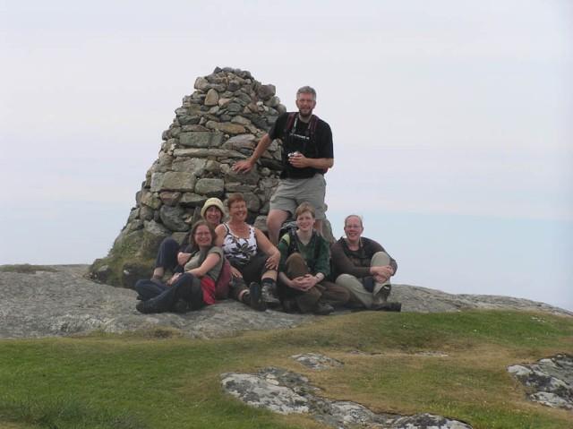 Op de top van Dun-I, het hoogste punt van Iona (overigens slechts 100m boven zeeniveau)